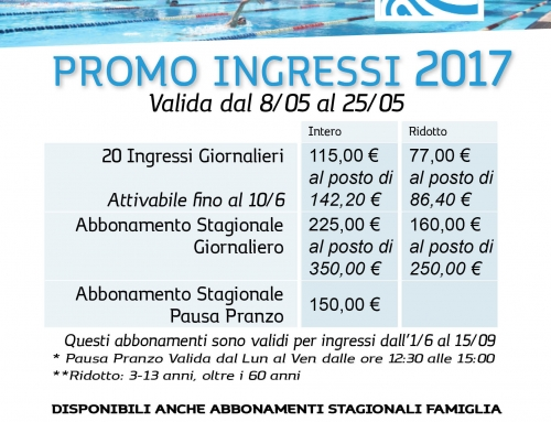 Promo Ingressi Estate 2017