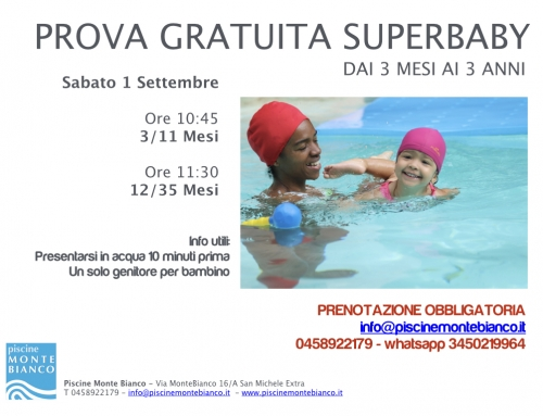 Open Day – Super Baby – 1 Settembre