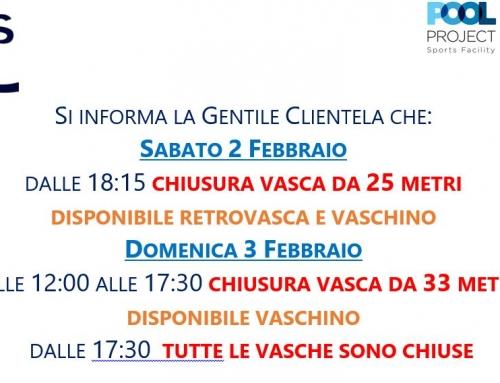 Variazione Orario 2-3 Febbraio