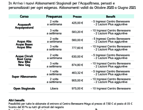 Promo Stagionali Acquafitness