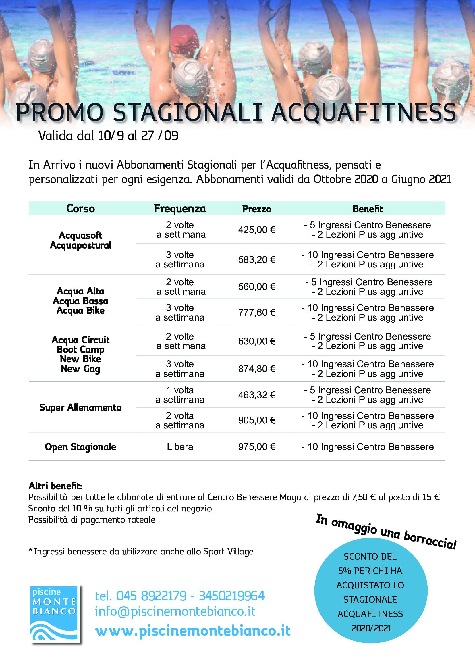 Promo Stagionali Acquafitness