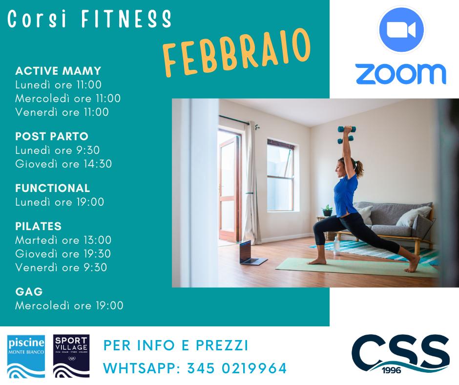 Corsi Fitness FEBBRAIO