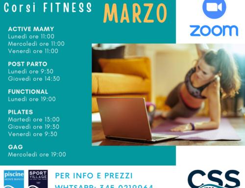 Corsi Fitness MARZO