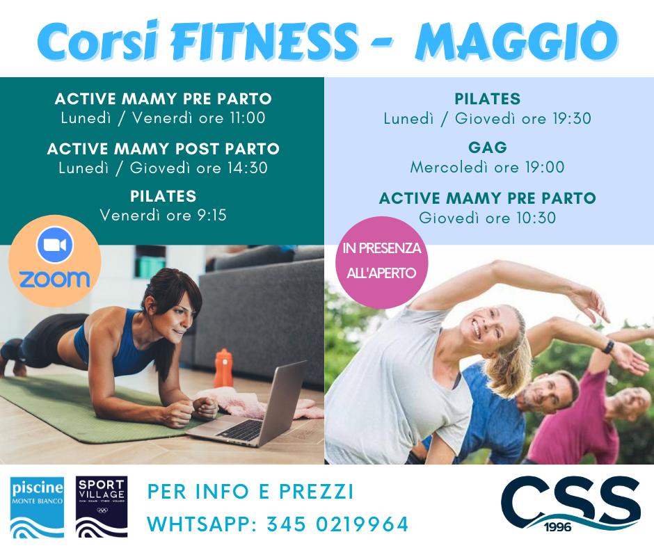 corsi Fitness – MAGGIO